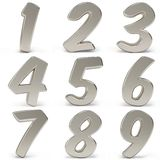 3d metal numbers Stock Photos