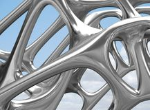 3D metal Structural illustration / render Royalty Free Stock Photo