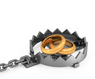 3d Metal Trap Royalty Free Stock Photography