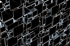 3d metal tubes Royalty Free Stock Photo
