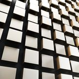3d metallic cubes abstract wall. Background Royalty Free Stock Photos