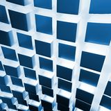 3d metallic cubes abstract wall Stock Photography