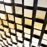 3d metallic cubes abstract wall Royalty Free Stock Photo