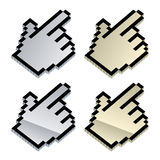 3d metallic cursors Royalty Free Stock Photos