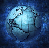 3D metallic Earth. Globe background Stock Photos