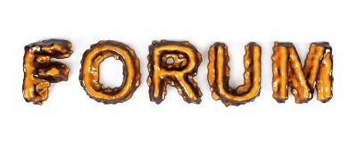 3D metallic forum Stock Photography