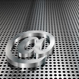 3D metallisch am Symbol Stockfoto