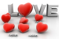 3d miłość Obrazy Stock
