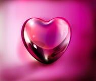 3d miłość kierowe purpury Fotografia Stock