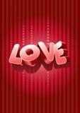 3d miłość tekst Obrazy Stock