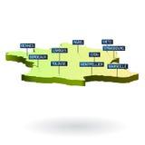 3d miast France mapa royalty ilustracja