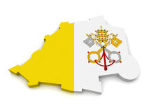 3d miasta mapy stan Vatican Zdjęcie Royalty Free