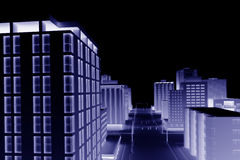 3d miasto ilustracji