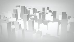 3d miasto ilustrujący Obraz Royalty Free
