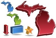 3D Michigan Royalty-vrije Stock Afbeeldingen