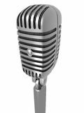 3d microphone Royalty Free Stock Photo