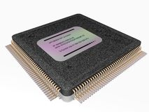 3D Microprocessor. A microprocessor incorporates the functions of a computer's central processing unit (CPU) on a single integrated circuit (IC, or microchip Royalty Free Stock Image