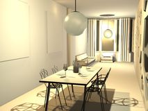 3d mieszkanie Obraz Stock