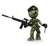 3d militair geweven met camouflage Stock Illustratie