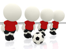 3D mini-football players Royalty Free Stock Photo