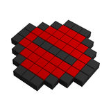 3d minus pixel icon Royalty Free Stock Photo
