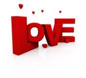 3d miłość tekst Zdjęcia Royalty Free