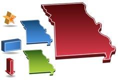 3d Missouri ilustracja wektor