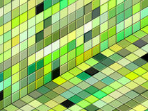 3d mixed green tiled wall floor pavement Stock Images