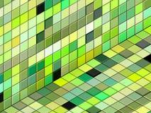 3d mixed green tiled wall floor pavement. 3d render mixed green tiled wall floor pavement Stock Images