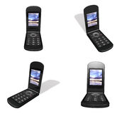 3d mobile phone array Royalty Free Stock Image