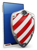 3d mobile phone protected Stock Photography