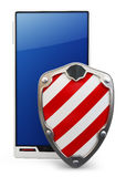 3d mobile phone protected Stock Photos