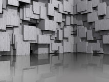 3D Model architecturale achtergrond Stock Afbeeldingen