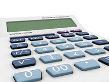 3D model calculator with blank lcd Stock Images