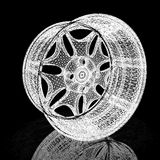 3d model of car wheel rims Royalty Free Stock Photography