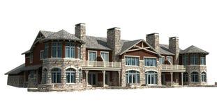 3D Model condominium house Stock Photography