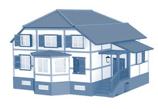 3d model of a house Stock Photos