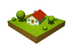 3d model of the house Royalty Free Stock Images