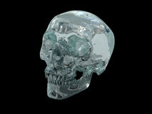 3D model of a human Crystal Skull Royalty Free Stock Image