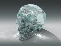 3D model of a human Crystal Skull Royalty Free Stock Images