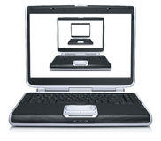 3d model of the laptops Stock Photos