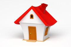 3d model of a little house Stock Image