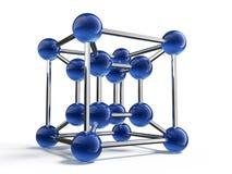 3d model of molecule stock illustration