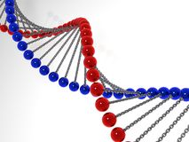 3d model molecule dna Royalty Free Stock Images