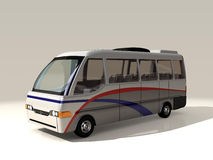 3D model of shuttle bus Royalty Free Stock Photography