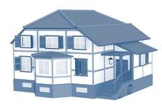 3d model van een huis vector illustratie