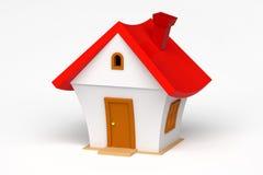 3d model van een klein huis Stock Afbeelding
