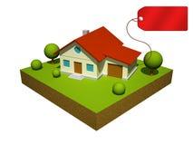 3d model van het huis Stock Afbeeldingen