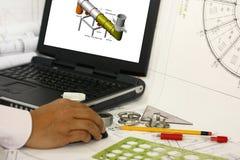 3d modelant des travaux Images libres de droits