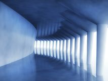 3d modern architecture corridor. Background Stock Images